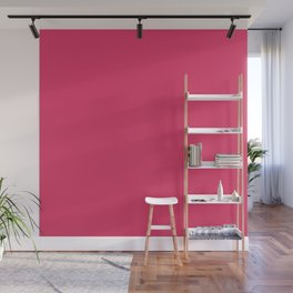 Cerise Pink Solid Color Wall Mural