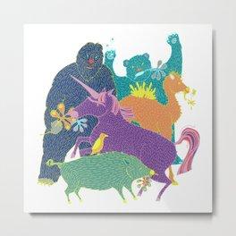 Band of Beasts Metal Print