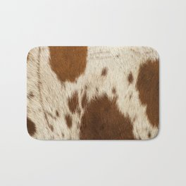 Pattern of a Longhorn bull cowhide. Bath Mat