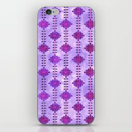 Boho Flower Stripe {Ultra Violet} iPhone Skin