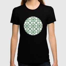 Islamic style geometrics sage green pattern T-shirt