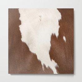 Brown Cowhide v4 Metal Print