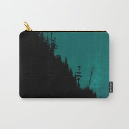 Int The Woods - Dark Forest Landsape - Teal Carry-All Pouch