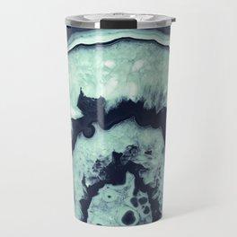 Navy Blue Mint Agate #1 #gem #decor #art #society6 Travel Mug