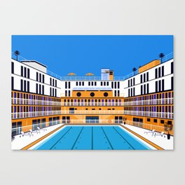 Molitor pool Canvas Print