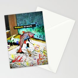 Pollock at Work Stationery Cards