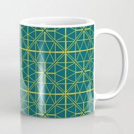Emerald Green Triangles Pattern Coffee Mug