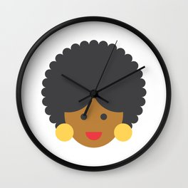 an afro american woman Wall Clock