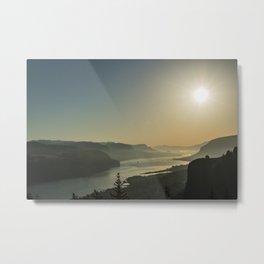 Sunrise Gorge Metal Print