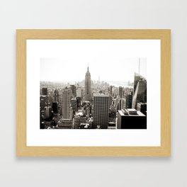 Static Empire Framed Art Print