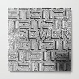 Sewer Metal Print