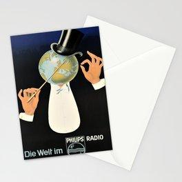 Plakat die welt im philips radio  Stationery Cards