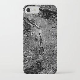 Portland Black Map iPhone Case