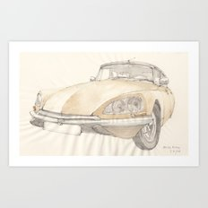 Citroen DS 23 Pallas Art Print