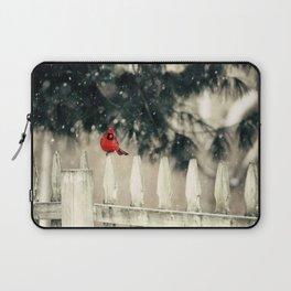 Snowy Day Cardinal Laptop Sleeve