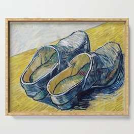 Vincent van Gogh - A Pair Of Leather Clogs - Digital Remastered Edition Serving Tray