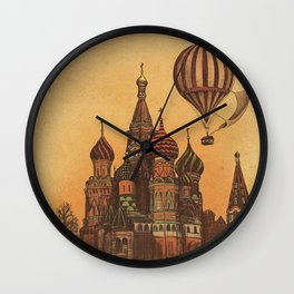 Moving to Moscow Wall Clock