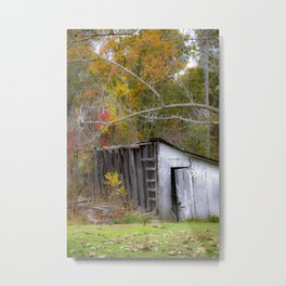 Smokehouse in Autumn Metal Print