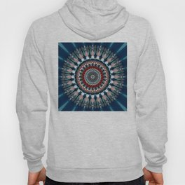 Festive Winter Night Mandala Hoody