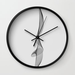 ''Dove Collection'' - Minimal Letter I Print Wall Clock