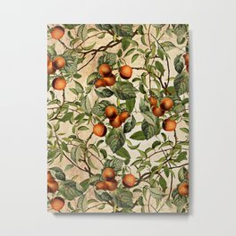 Vintage Fruit Pattern Metal Print