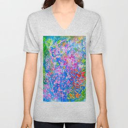 All The Colors in My Garden Unisex V-Neck