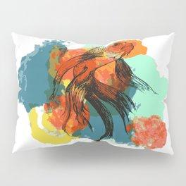 Splatter koi fish Pillow Sham