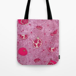 Crushed Pomegranate Tote Bag