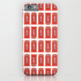 Red Telephone Booth iPhone Case