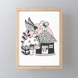 Enchanted Fairy And Fairy House  Framed Mini Art Print