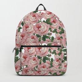 Pink Vintage Roses Collage Backpack