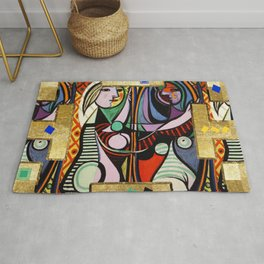 Picasso collage Rug