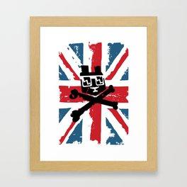 Bear Picnic Union Jack Framed Art Print