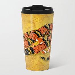 Mexican Candy Corn Snake Metal Travel Mug