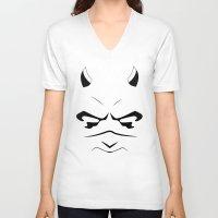 daredevil V-neck T-shirts featuring Daredevil by Erick Navarro