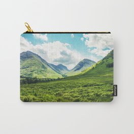 Lush Vegetation Mountain Valley  Carry-All Pouch