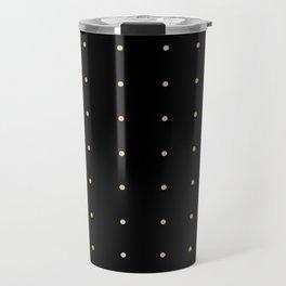 Black & Cream Polka Dots Travel Mug