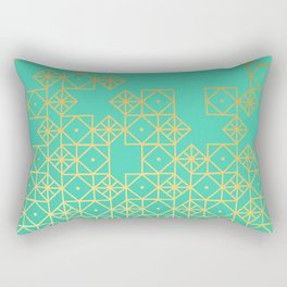 Geometric Turquoise Rectangular Pillow