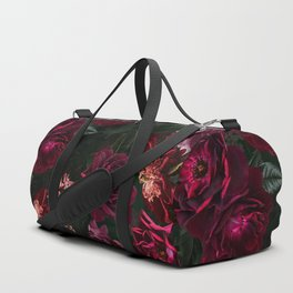 Vintage & Shabby Chic - Night Botanical Flower Roses Garden Duffle Bag