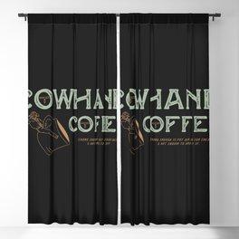Cowhand Coffee - Vintage Mint & Mauve Blackout Curtain