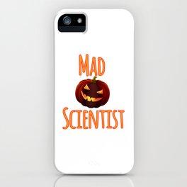 Mad Pumpkin Scientist Halloween Math Science Student iPhone Case