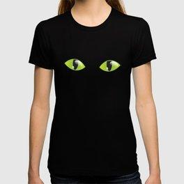 Green Cat Eyes  T-shirt