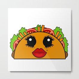 Cute Kawaii Taco Metal Print