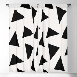 black triangle pattern II Blackout Curtain