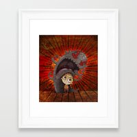 fear Framed Art Prints featuring Fear by José Luis Guerrero