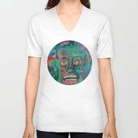 james franco V-neck T-shirts featuring James by Noah Zark