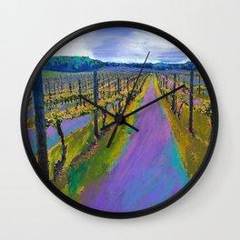 On The Michigan Wine Trail/Chateau De Leelanau Wall Clock