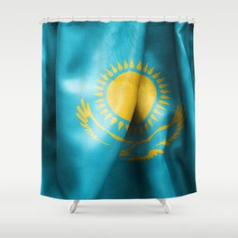 Kazakhstan Flag Shower Curtain