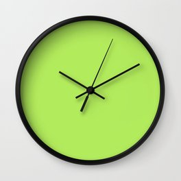 From The Crayon Box – Inch Worm Green - Bright Lime Green Solid Color Wall Clock
