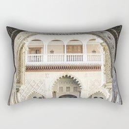 Portal to inner patio - Alcazar of Seville Rectangular Pillow